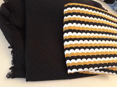 molleton noir et jersey bio vaguelettes