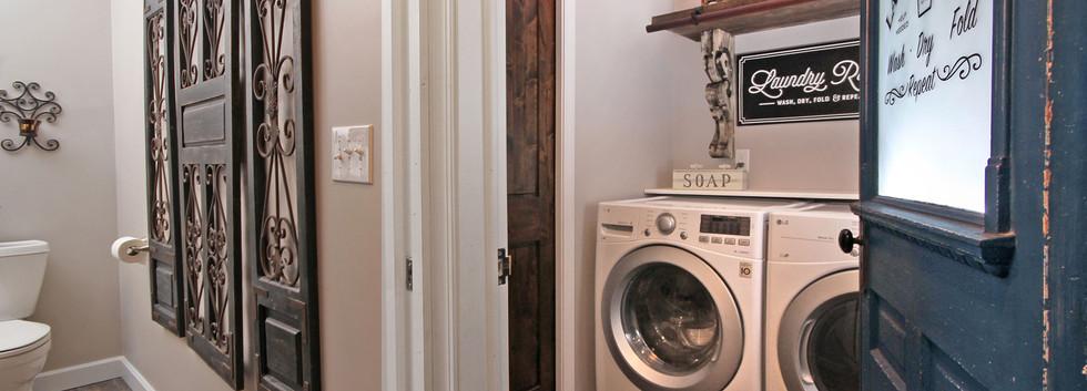 basement bath and laundry