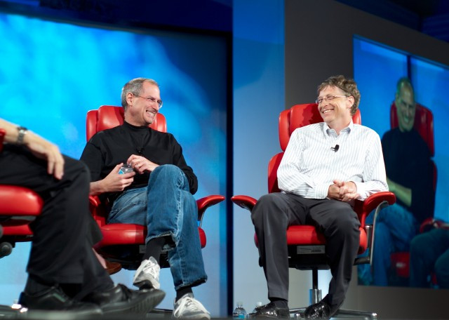 Bill Gates and Steve Jobs together. Bill Gates letter to Steve Jobs