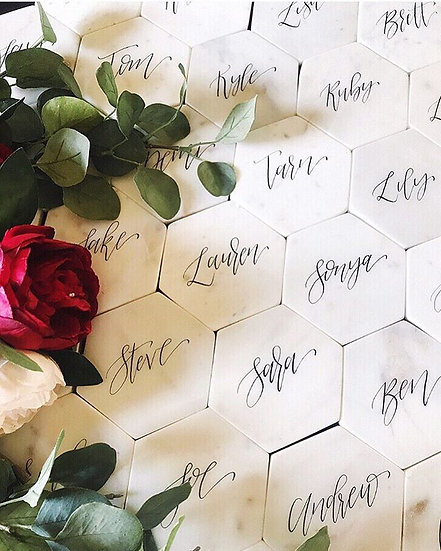 Marble Coaster With Calligraphy