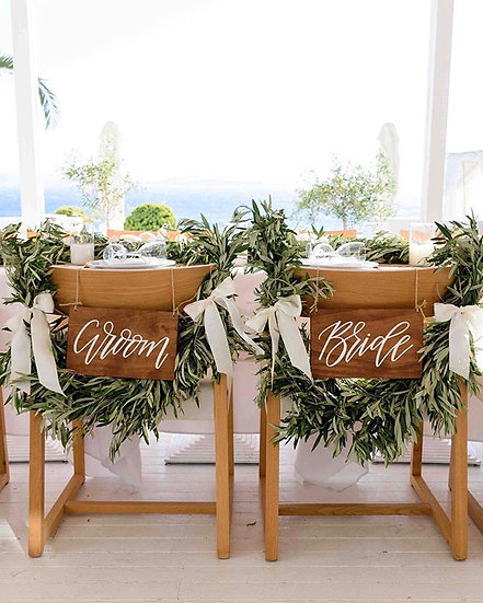 Bride and Groom Signs