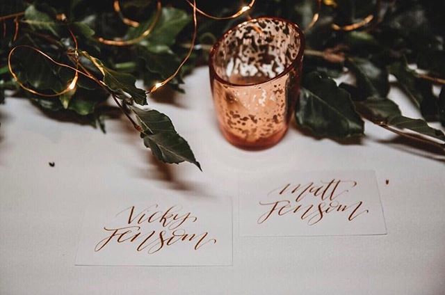 PLACE CARDS WITH CALLIGRAPHY