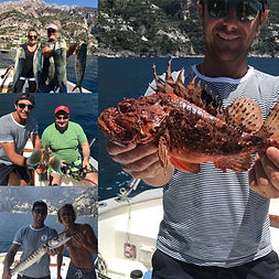 half day fishing positano