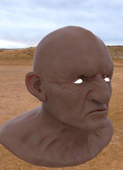 dwarf head 3D model