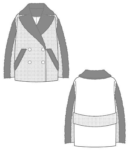 Import tweed x bore volume coat