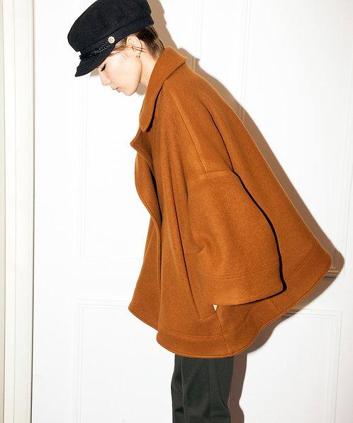Wool mosser A-line coat