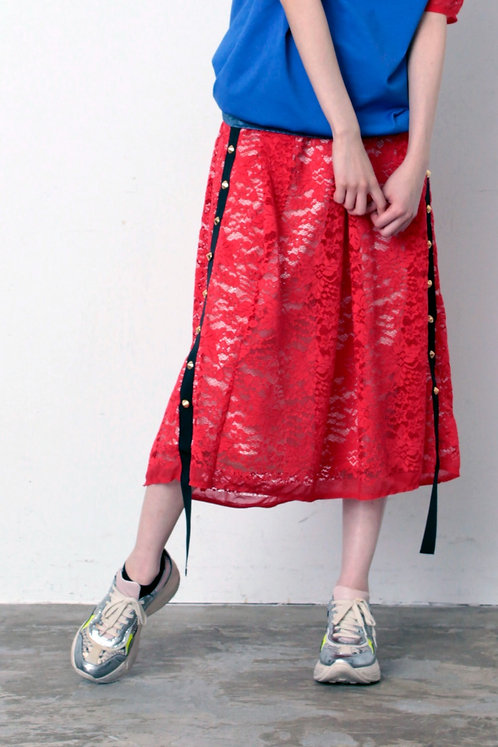 Import race side sutuds skirt