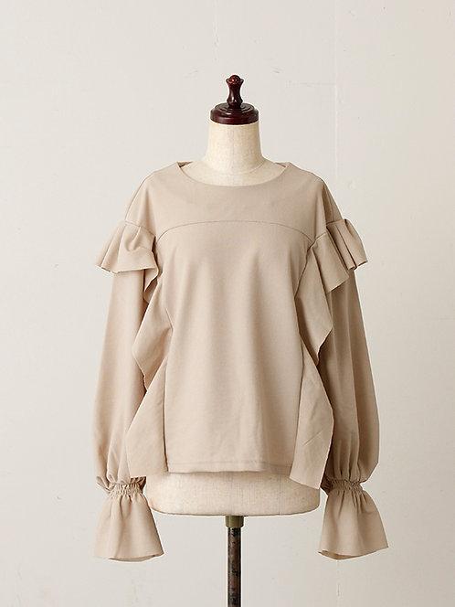 Light raschel Ruffled sleeve Pullover