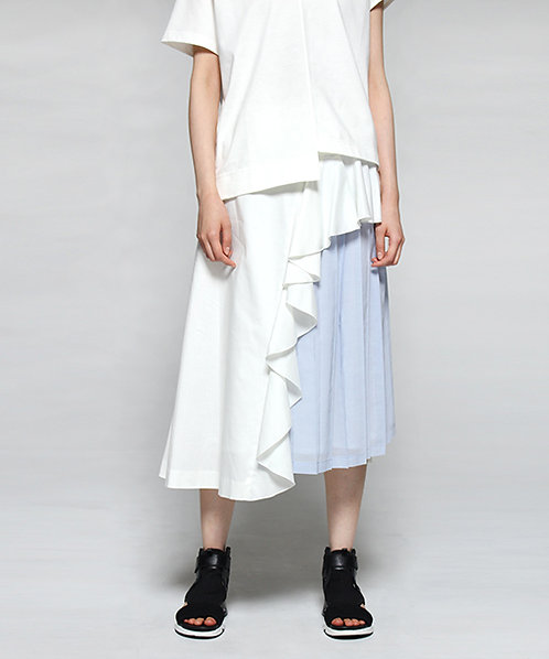 Pleated design mimore skirt
