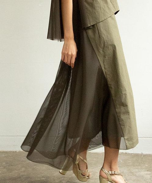 Back flare design skirt