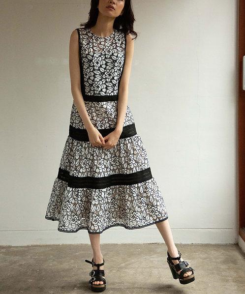 Flower lace switch dress