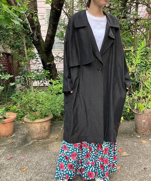 Side frill design oversized coat