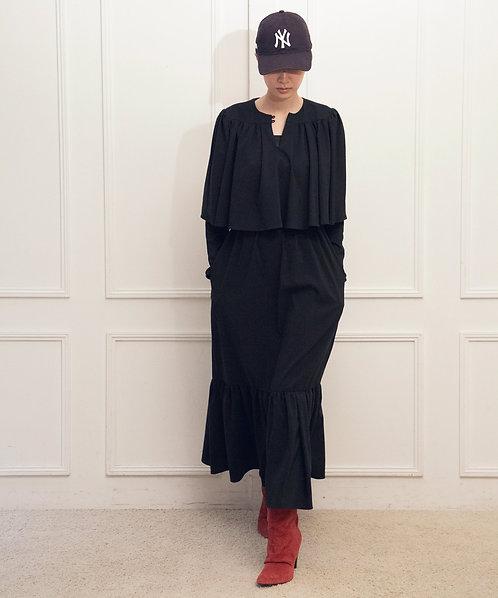 High twist ruffle frill tiered dress