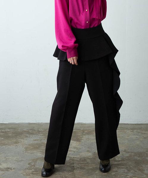 Raffle design straight pants