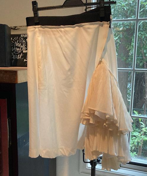 Pleated winding skirt