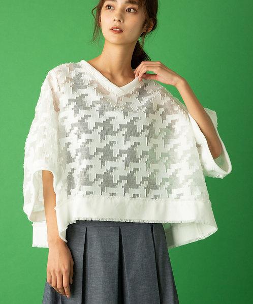 Import hound-tooh blouse