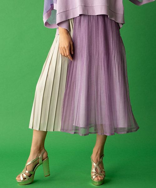 Pleated flare skirt