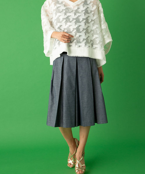Tuck volume culottes pants