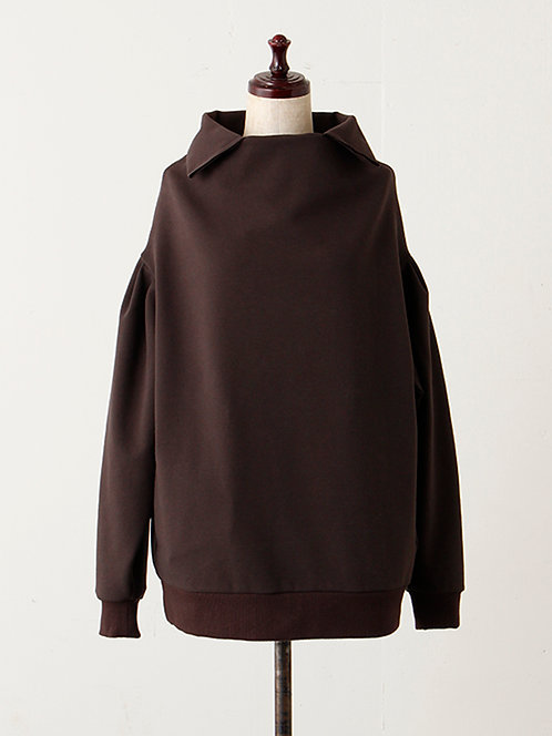French Terry  Pullover With Collar