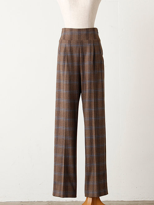 Herringbone check Pants