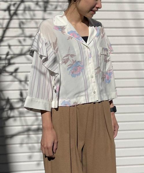 Flower printshirt blouse