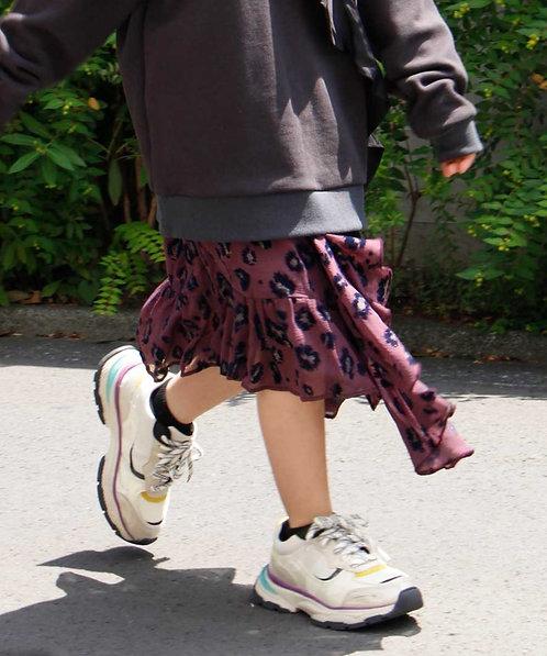 【AVIE KIDS】Leopard skirt