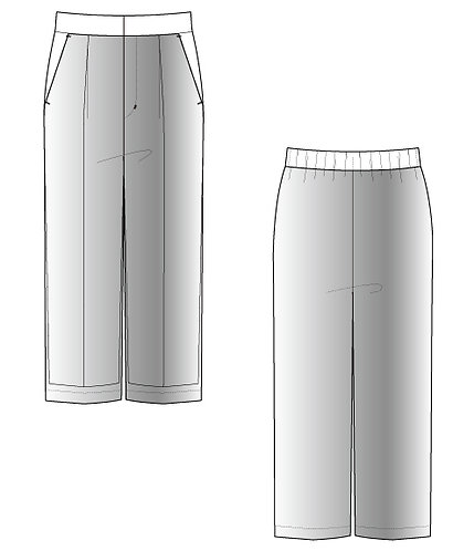 Import cut jacquard cropped wide pants