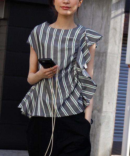 Multi border frill blouse