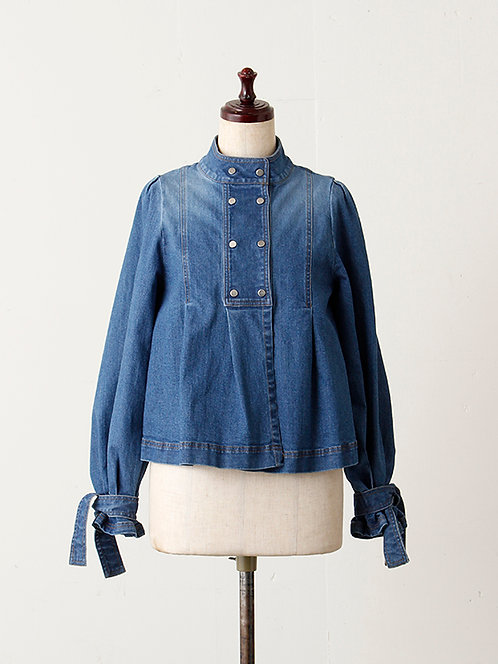 10oz Denim Stand collar Blouse
