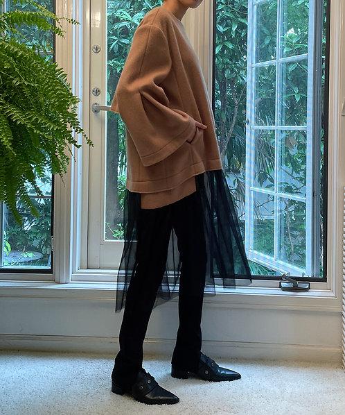 Melton switching tulle dress
