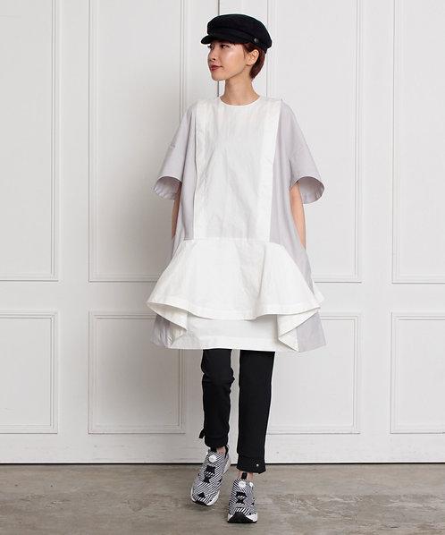 Peplum sack dress