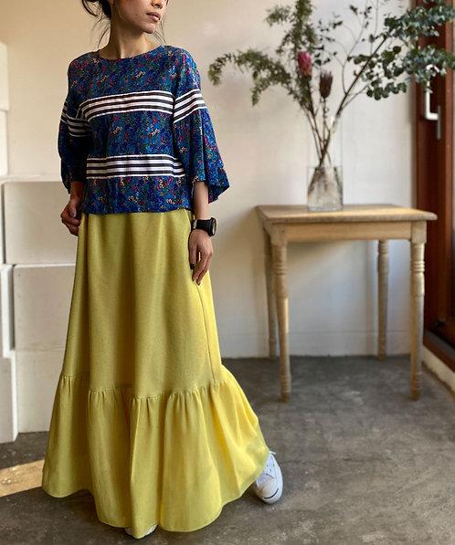 Oriental karami hem frill skirt