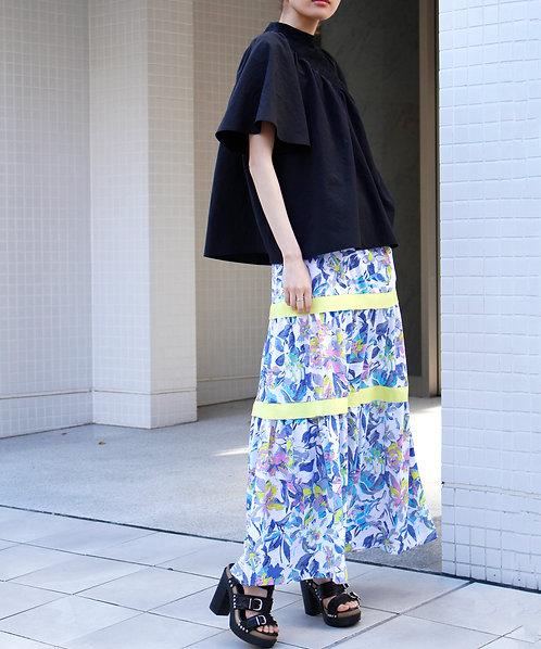 Floral gather maxi skirt