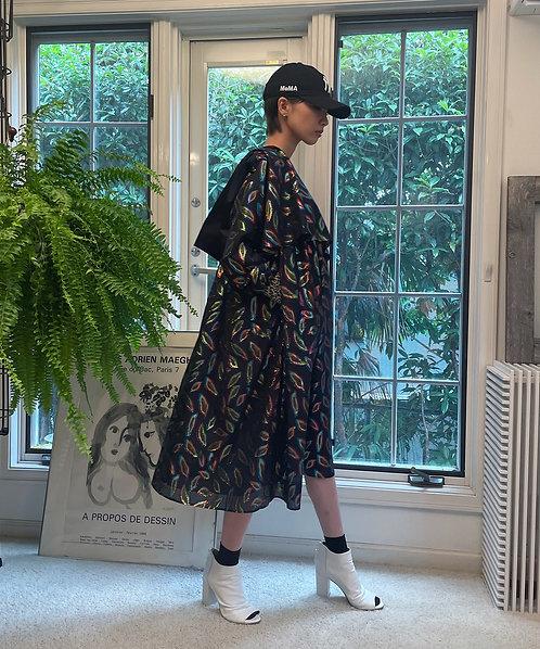 Import lip jacquard peplum dress