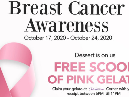 Breast Cancer Awareness   l  FREE PINK GELATO