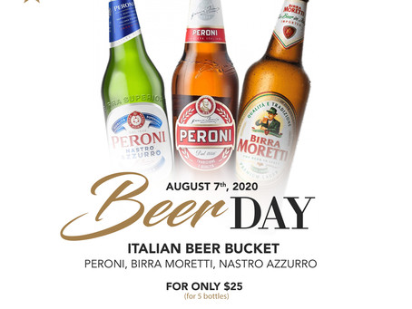 Celebrate BEER DAY with style at Gianni's Group! Your favorite refreshing Italian Beers 🇮🇹