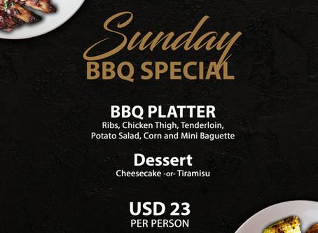 SUNDAY FUN DAY! With Daniel's Steak & Chop BBQ Special!