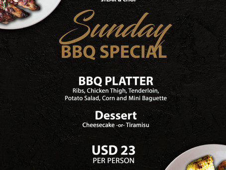 SUNDAY FUN DAY! With Daniel's Steak & Chop BBQ Special!