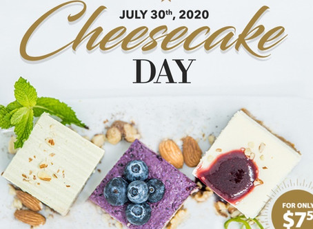Your favorite Cheesecakes available on one plate! Treat yourself on National Cheesecake Day!