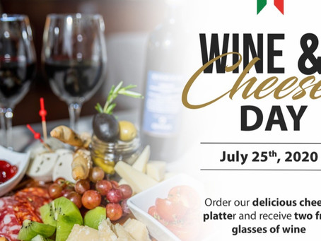 Get some fresh air and Celebrate the ultimate pairing of Wine & Cheese with Gianni's Group!