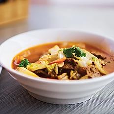 Spicy Vegan Beef Stew Noodle Soup