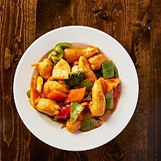 Sweet and Sour Vegan Shrimp