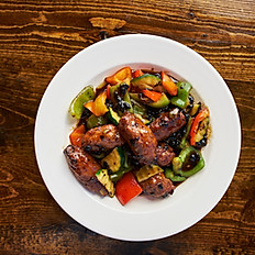Vegan Ribs with Black Bean Sauce