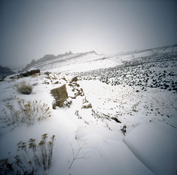 Utah Winter, Pinhole Photography