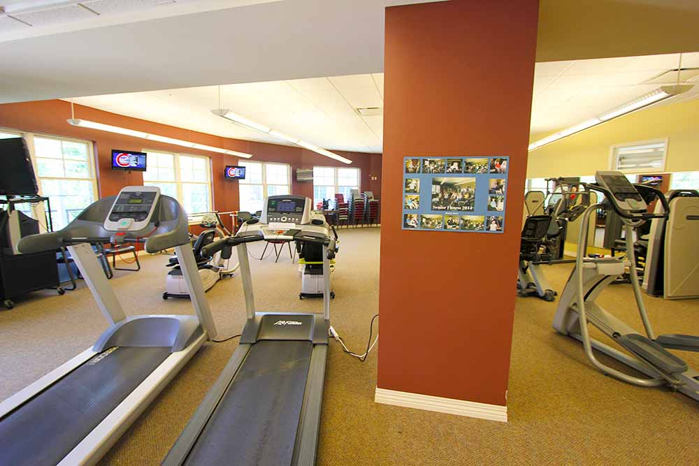 exercise areas