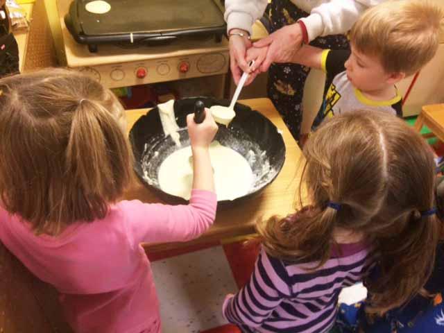 Making Pancakes...