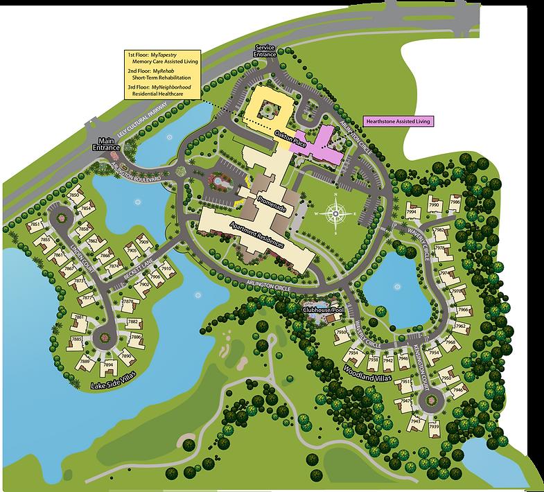 The Arlington Campus Map