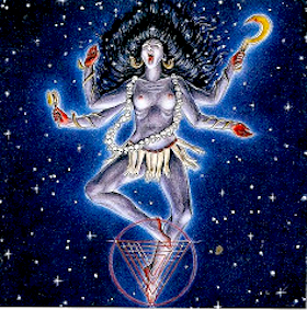 Representation of the goddess Kali