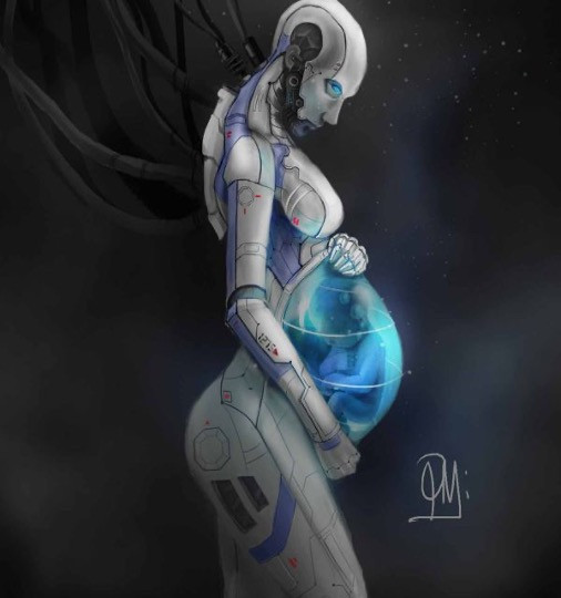 Pregnant android