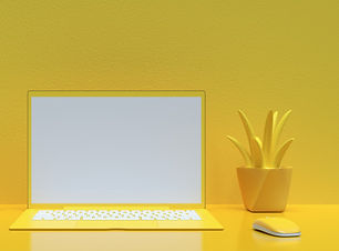 laptop-background-work-desk-yellow-color